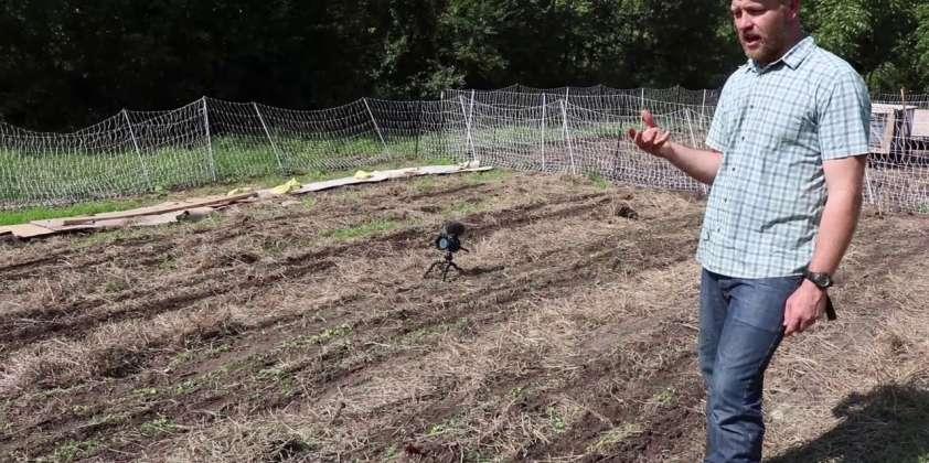 Helping Justin Rhodes With His Animal Garden Setup
